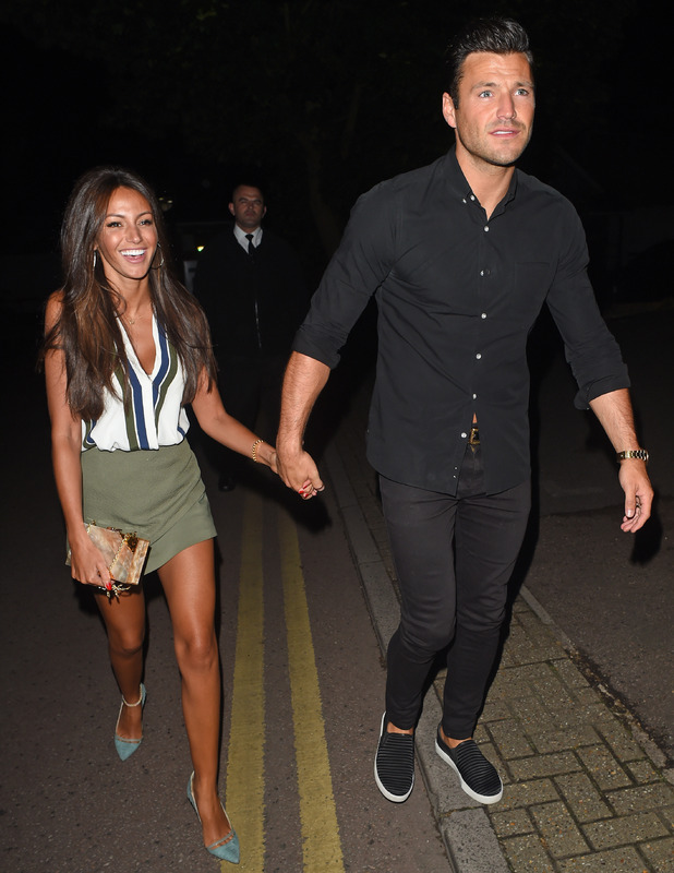 Mark Wright and Michelle Keegan spotted leaving Studio 15 nightclub in Windsor after their honeymoon, 12 June 2015
