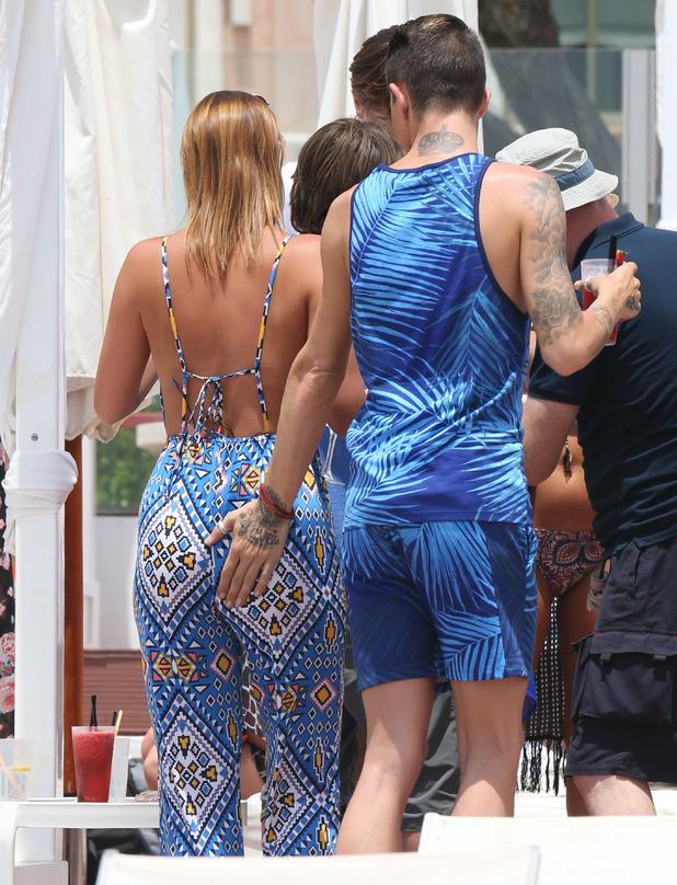 Ferne McCann and Bobby Norris, Plaza Beach, Marbella 8 June