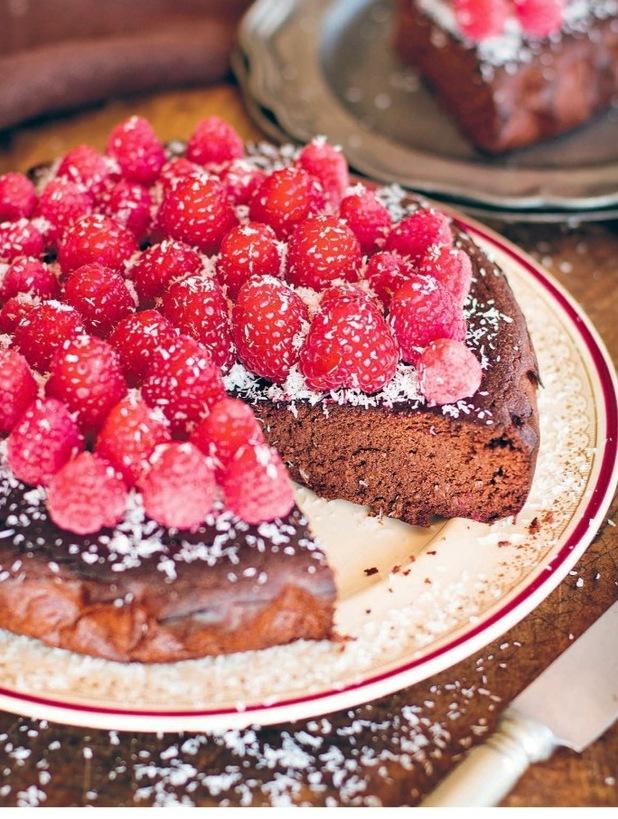 Raspberry & Honey Chocolate Torte from Eat Drink Paleo
