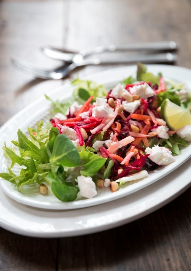 Beetroot and feta salad with tangy lime dressing for diabetes week