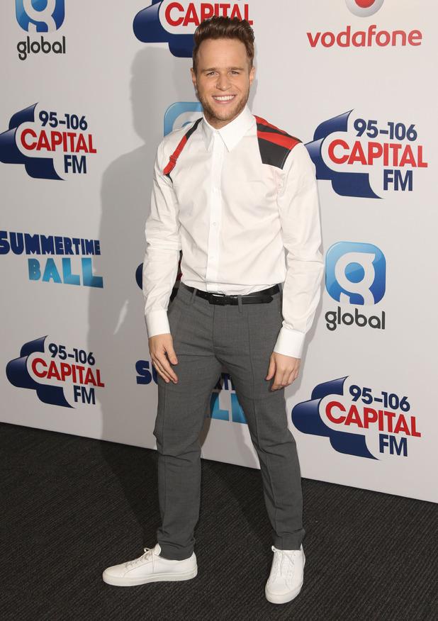 Olly Murs arrives at Capital FM Summertime Ball, 6th June 2015