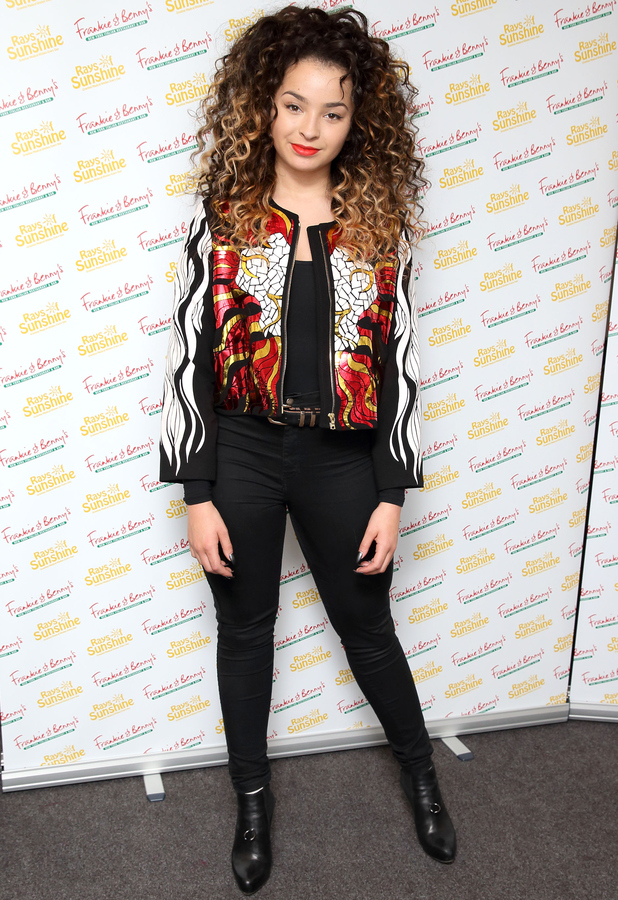 Ella Eyre at the Frankie & Benny's concert in London 8th June 2015