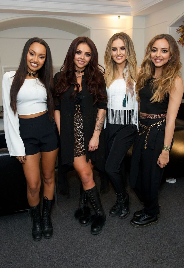 Little Mix (Jade Thirlwall, Jesy Nelson, Leigh-Anne Pinnock, Perrie Edwards) at the Franie & Benny's concert 8th June 2015