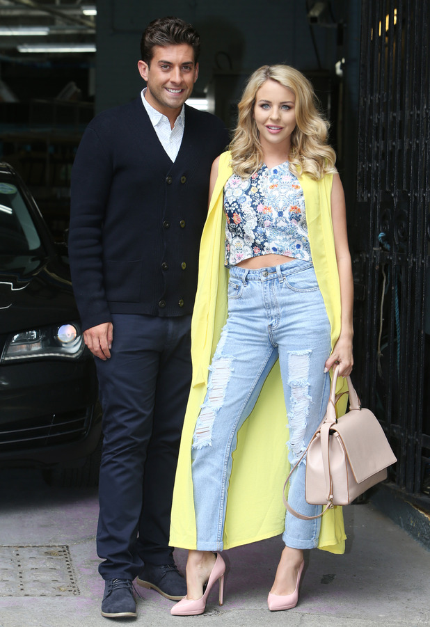 TOWIE's James 'Arg' Argent and Lydia Bright outside ITV Studios - 12 June 2015.