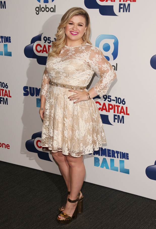 Kelly Clarkson arrives at Capital FM Summertime Ball, 6th June 2015