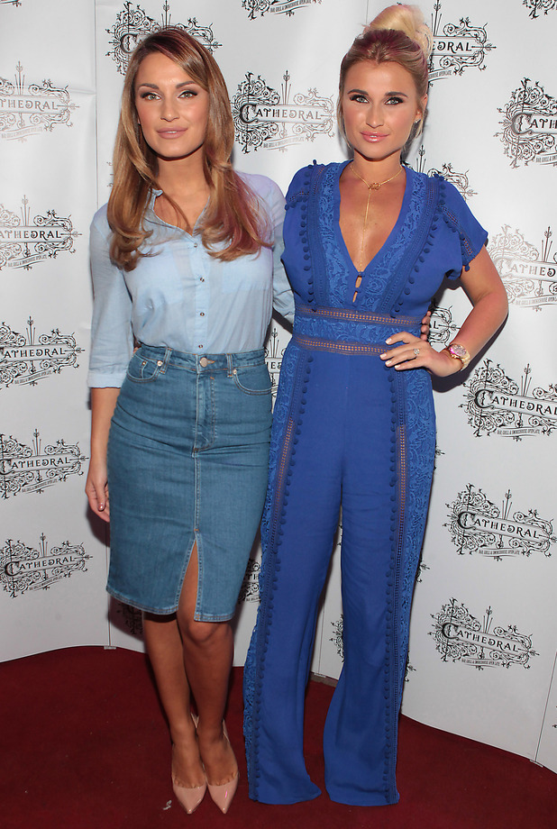 Billie and Sam Faiers attend the opening of the Cathedral Bar and Restaurant in Dublin, Ireland, 12 June 2015