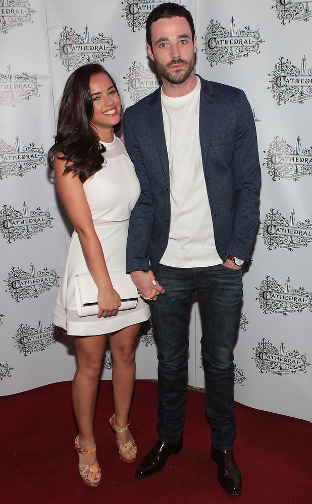 Georgia May Foote and boyfriend Sean Ward attend the Cathedral Bar and Restaurant in Dublin, Ireland, 12 June 2015