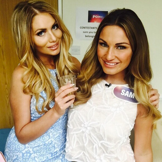 Sam Faiers and Amy Childs together again, June 2015