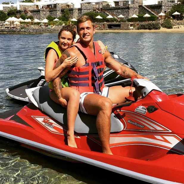 Jacqueline Jossa and Dan Osborne on holiday, 11 June 2015