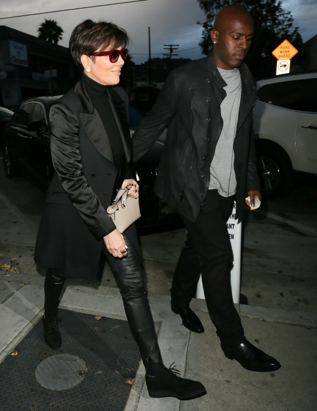 Kris Jenner and Corey Gamble are seen at Craig's restaurant in Hollywood on June 09, 2015 in Los Angeles, California. (Photo by Bauer-Griffin/GC Images)