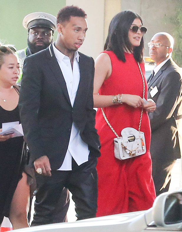 Tyga and Kylie Jenner are seen in downtown Los Angeles on June 08, 2015 in Los Angeles, California. (Photo by Bauer-Griffin/GC Images)