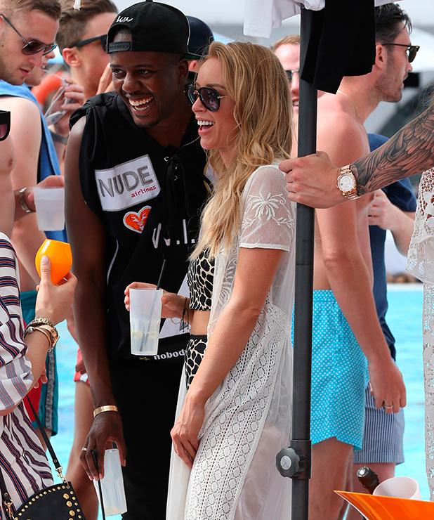 Vas J Morgan and Lauren Pope at the Ocean Club 7 Jun 2015