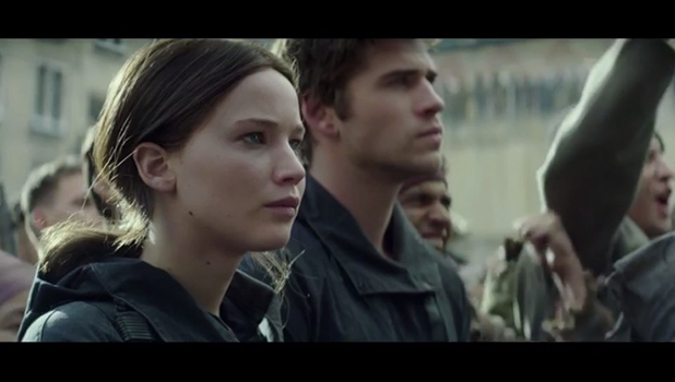 Katniss and Gale in Mockingjay Part 2 trailer, released November 2015