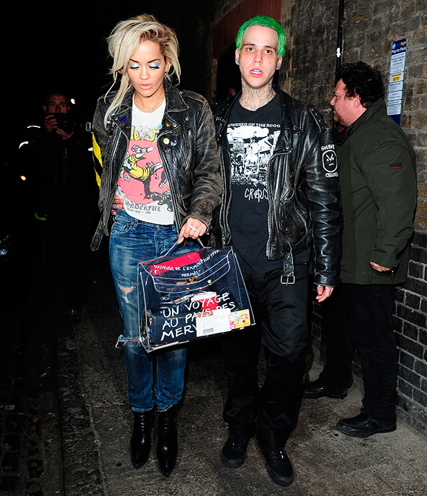 Rita Ora and Ricky Hil depart the Chiltern Firehouse, 10 June 2015