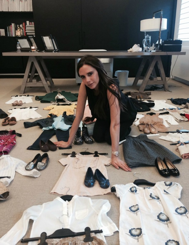 Victoria Beckham donates daughter Harper's outfits to 'Fashion Saves Lives' sale in aid of Save The Children - 10 Jun 2015