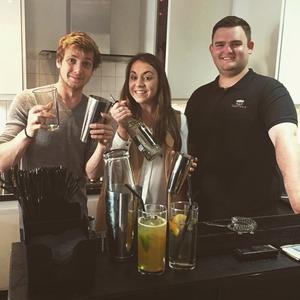 Sam Thompson and Reveal make cocktails 2 June