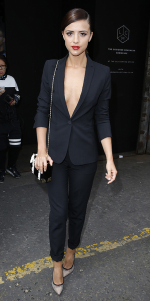 Lucy Mecklenburgh attends the Tautz SS16 catwalk show at The Old Sorting Office during London Collections Men 15 June
