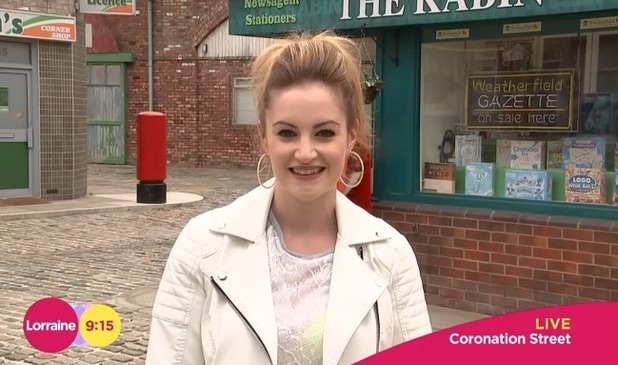 Paula Lane has talks about her Coronation Street return as tearaway Kylie Platt - 17 June 2015.