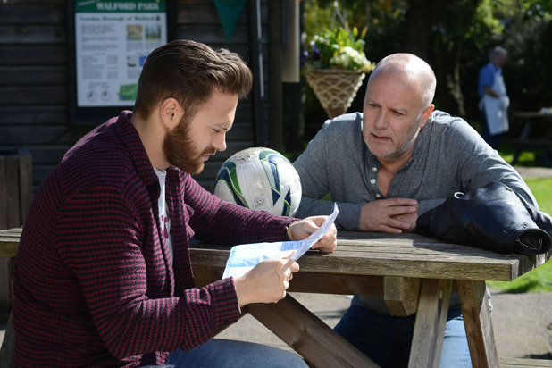 EastEnders, Buster tells Dean he's the dad, Mon 22 Jun