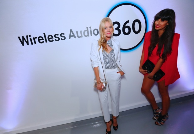 Laura Whitmore and Jameela Jamil at the Samsung 360 sound launch event in London June 18th 2015