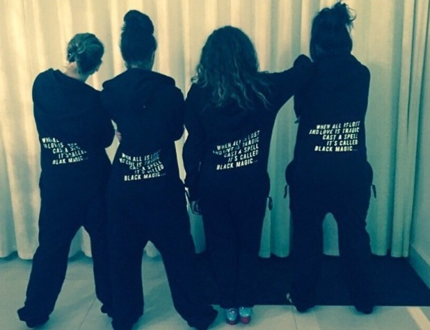 Little Mix wear personalised onesies from Jake Roche for Jesy Nelson's birthday -