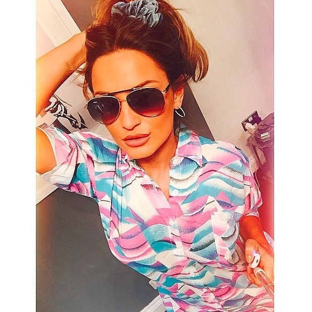 Sam Faiers posts picture of brand new shirt dress to Instagram 16th June 2015
