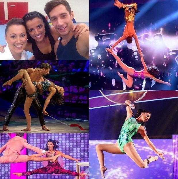 Lucy Mecklenburgh reminisces about her time on BBC gymnastics show, Tumble - 16 June 2015.