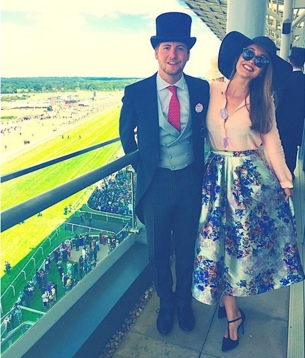 Stevie Johnson and Cressida Stewart at Ascot Racecourse 19 June