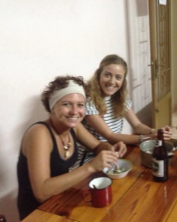 Preparing dinner at Mr Peace hostel, 20/6/15