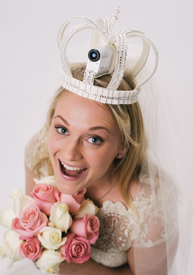 Sony Action Cam for wedding built in to tiara is part of the 'Bride's Eye View' collection