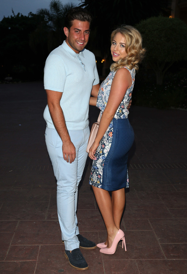 The Only Way Is Essex's James Argent and Lydia Bright in Marbella, Spain - 07 Jun 2015.