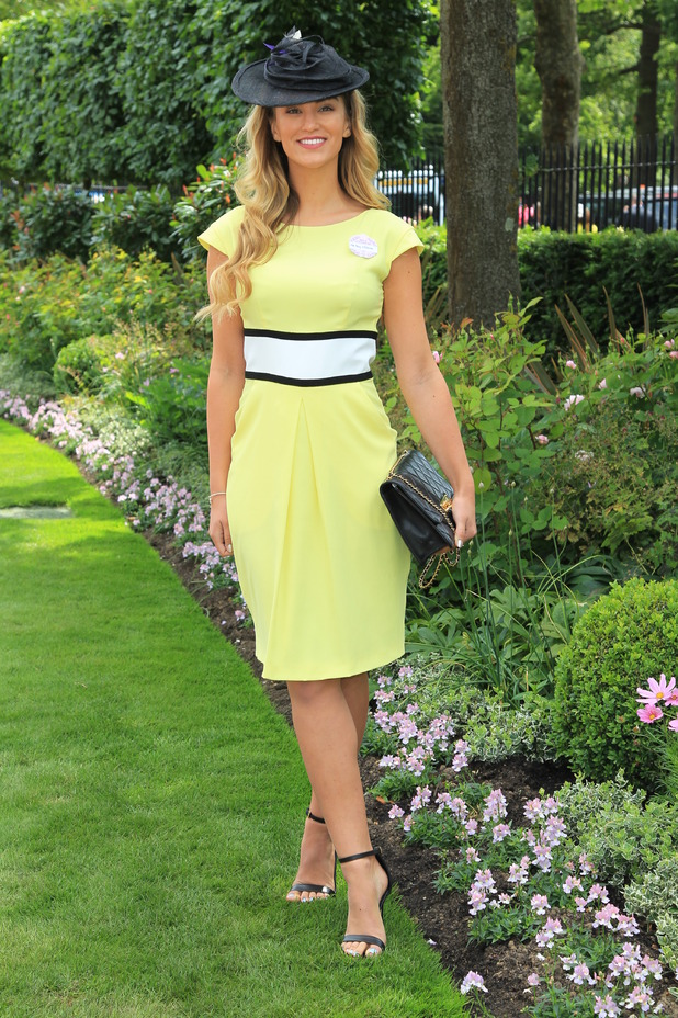 Amy Willerton arrives at Royal Ascot, armed forces day, 18th June 2015