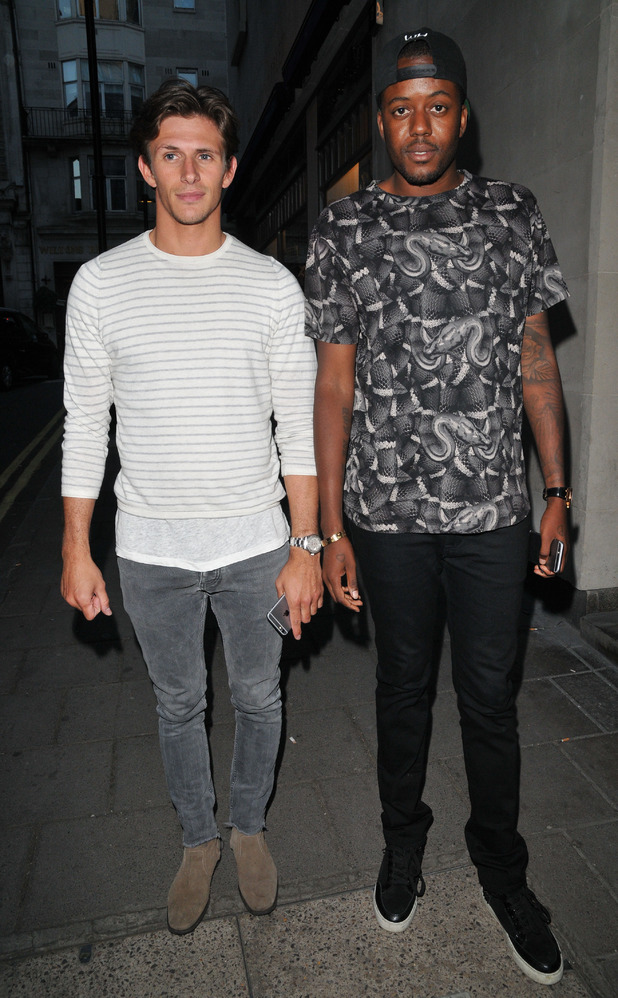TOWIE's Jake Hall & Vas J Morgan at House of Fraser and Shortlist magazine closing night party, London Collections: Men, Spring Summer 2016, London, Britain - 15 Jun 2015.