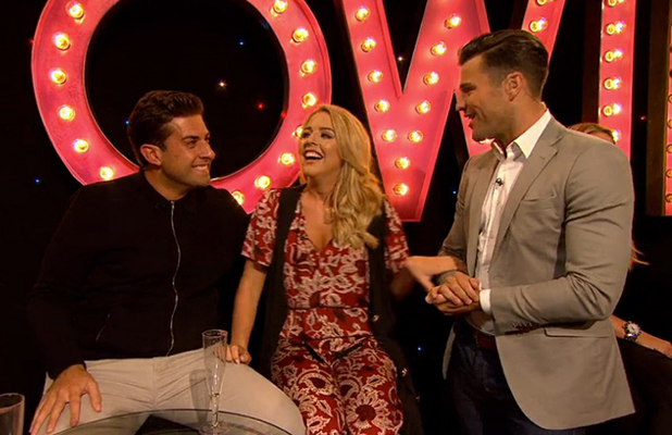 TOWIE's Lydia Bright and James Argent on All Back To Essex, 14 June 2015