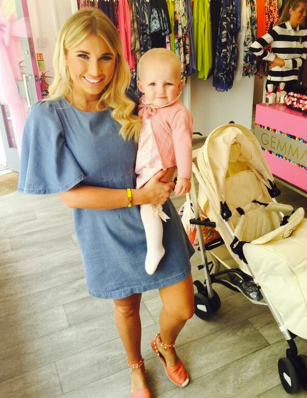 Billie Faiers and baby Nelly, 16 June 2015