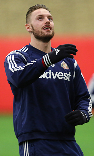 Connor Wickham during a Sunderland AFC training session at the Academy of LIght on January 15, 2015 in Sunderland, England.