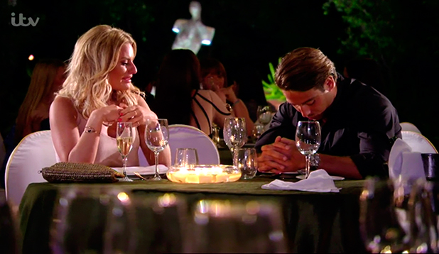 Danielle Armstrong meets James Lock at a romantic restaurant where he planned to propose to her. The pair have been on the rocks and Danielle tells James that they need time apart on 'The Only Way Is Marbs', broadcast on ITVBe