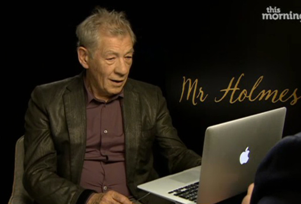 Ian McKellen surprised by video message from Bill Roache