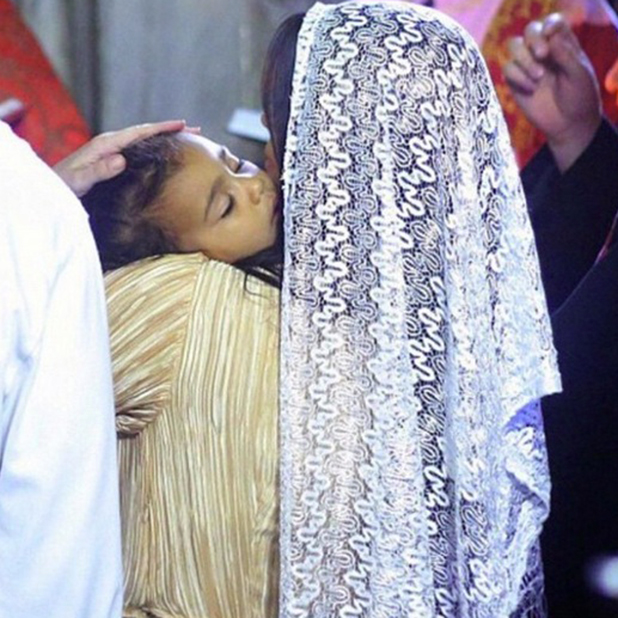 Kim Kardashian shares photos from North's baptism in Jerusalem, April 2015
