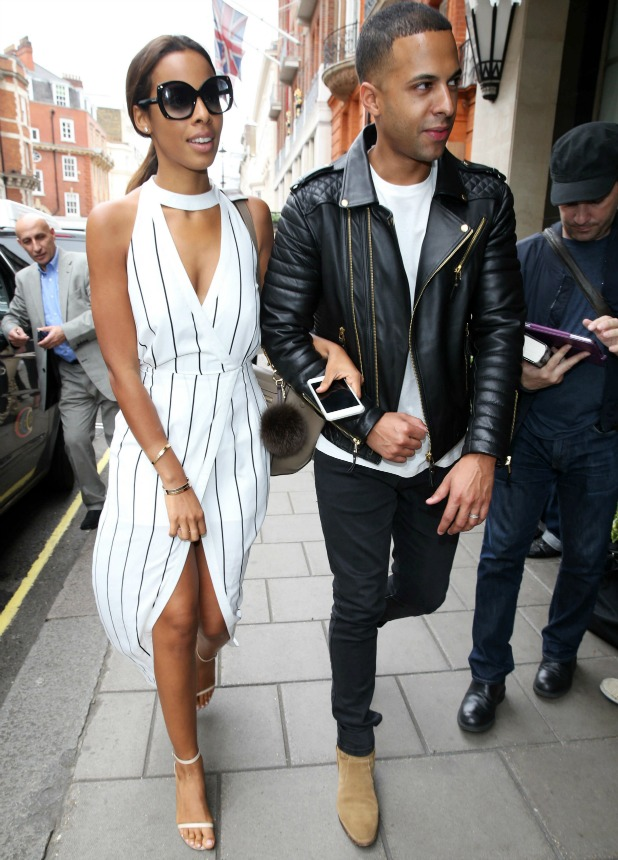 Rochelle Humes and Marvin Humes at Claridge's Hotel 17 Jun 2015