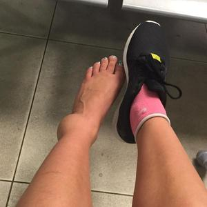 TOWIE's Ferne McCann shows off ankle injury - 19 June 2015.