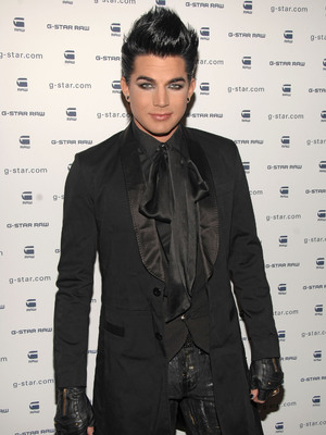 Adam Lambert arrives at the Mercedez-Benz IMG New York Fashion Week Fall 2010, 16th February 2010