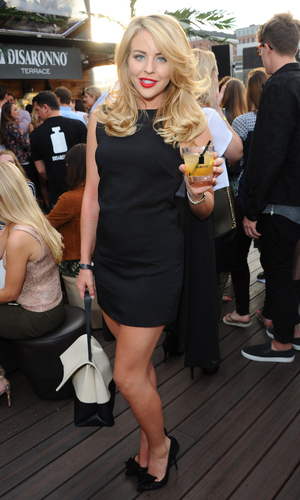 Lydia Bright at the launch of the DISARONNO Terrace at London's Golden Bee on June 24, 2015 in London, England.