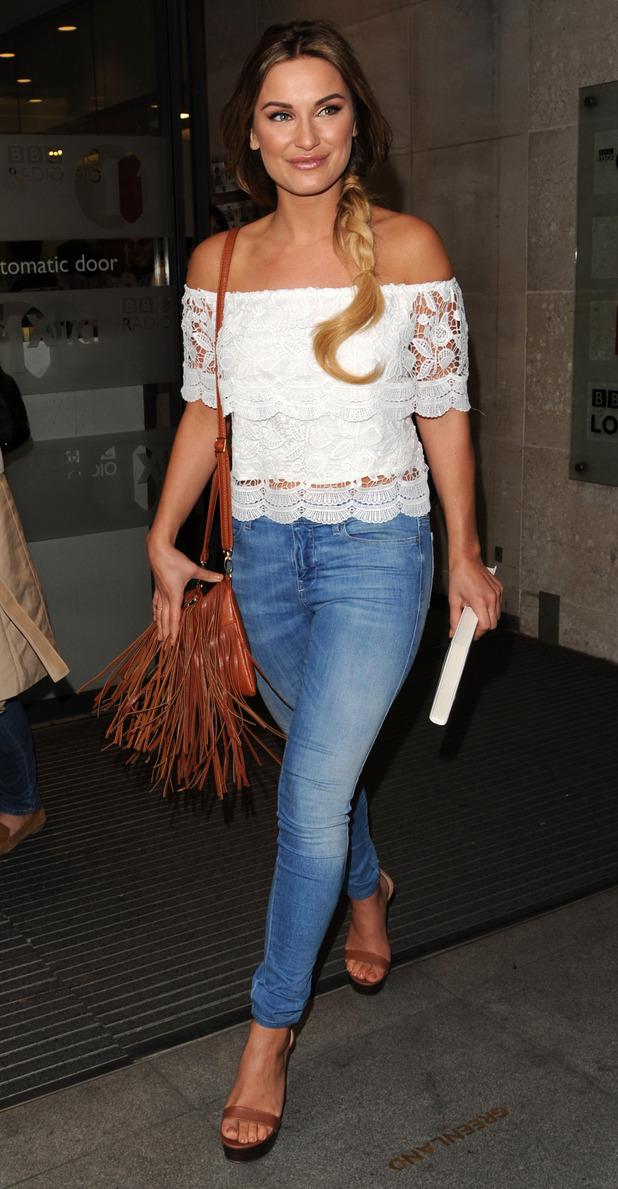 Sam Faiers in London wearing skinny jeans 23rd June 2015