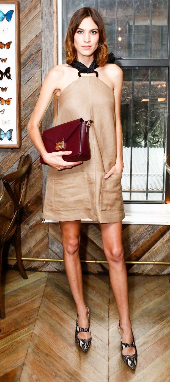 Alexa Chung at the Longchamp dinner in New York 24th June 2015