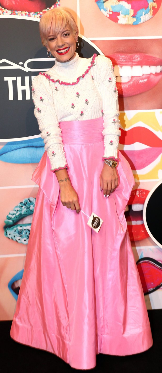Singer Lily Allen at the MAC Art of The Lip party in Munich, Germany 25th June 2015