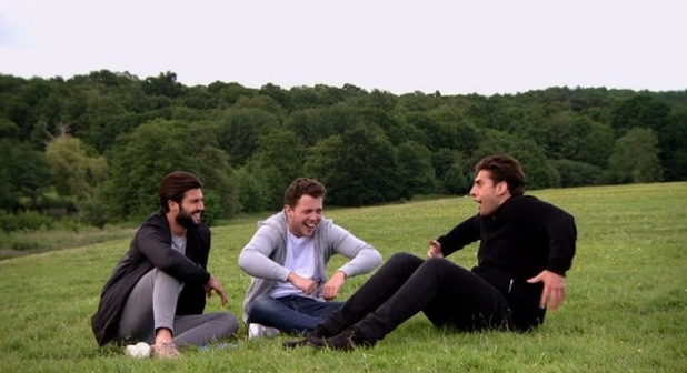 TOWIE's James 'Arg' Argent re-enacts Elliott and Lockie's heated row in Marbella by doing an impression in the park - 21 June 2015.