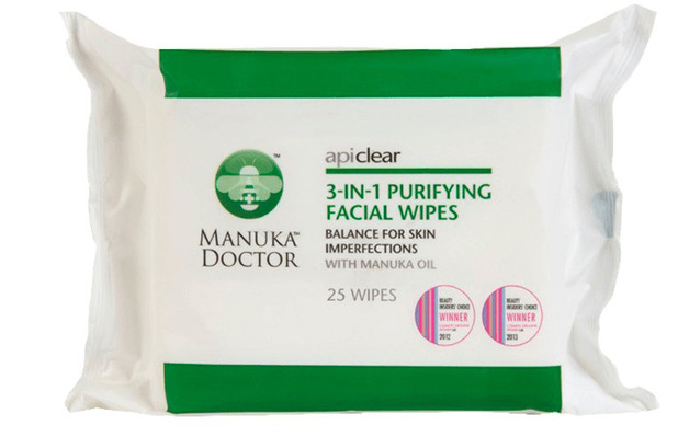Manuka Doctor 3-in-1 wipes 26th June 2015