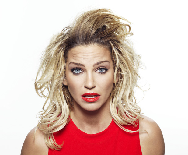 Sarah Harding after trying out Virgin Media's high speed selfie booth
