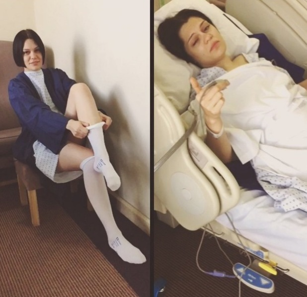 Jessie J shares photo from hospital bed as she undergoes operation. 23 June 2015.